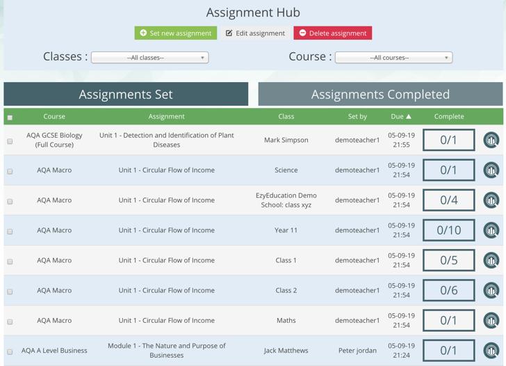 Assignment Hub Improvements