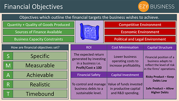 Business Studies Recap Day 19 - Financial Objectives