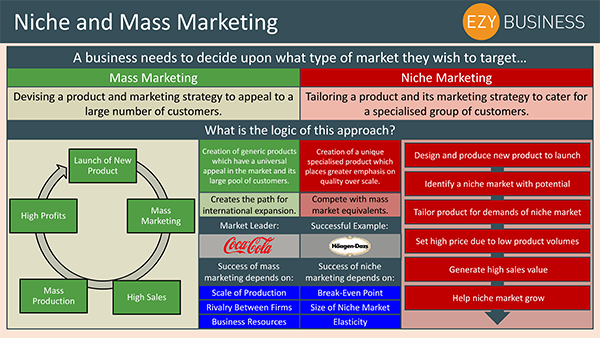 Business Studies Recap Day 8 - Niche and Mass Marketing