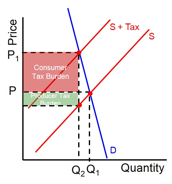 sin taxes a burden on consumers Chapter 2: elasticity learning objective a large increment in the price paid by consumers and the tax burden being largely paid by consumers when supply is.