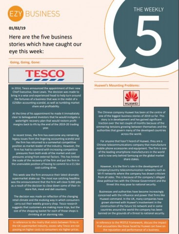 The Business Weekly 5 - 1st February 2019
