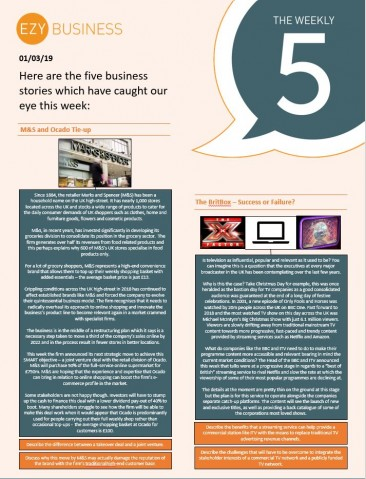 Business Weekly 5 - 1st March