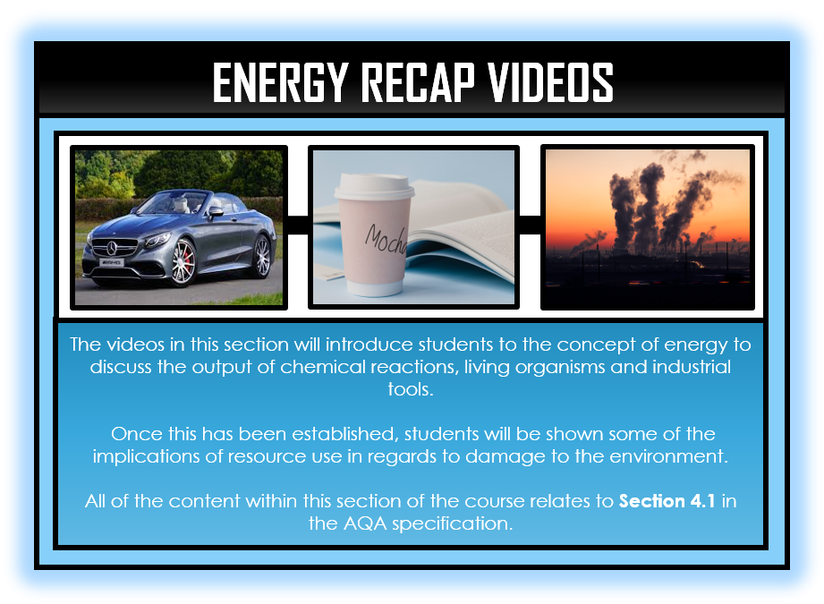 Physics Snapshots - Energy Section