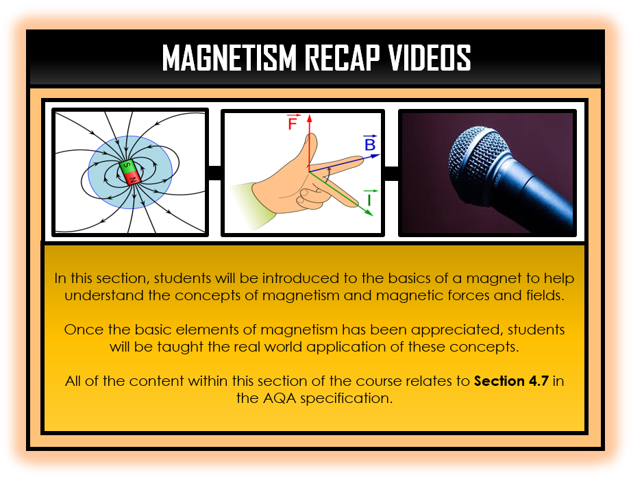Combined Science Snapshots - Magnetism Section