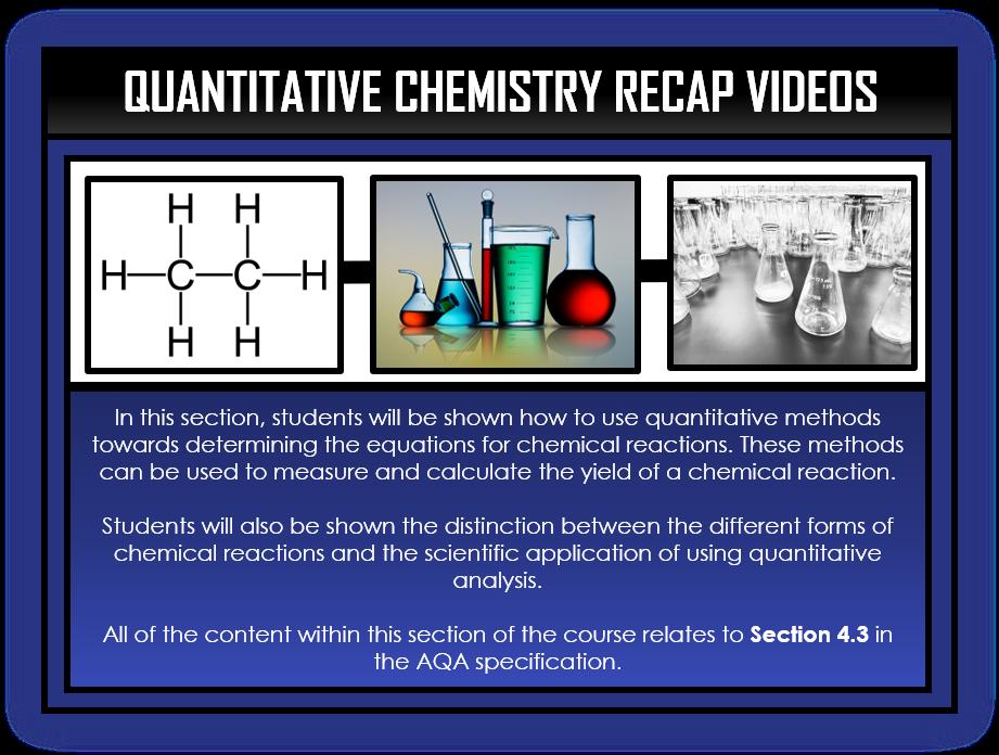 Chemistry Snapshots - Quantitative Chemistry Section