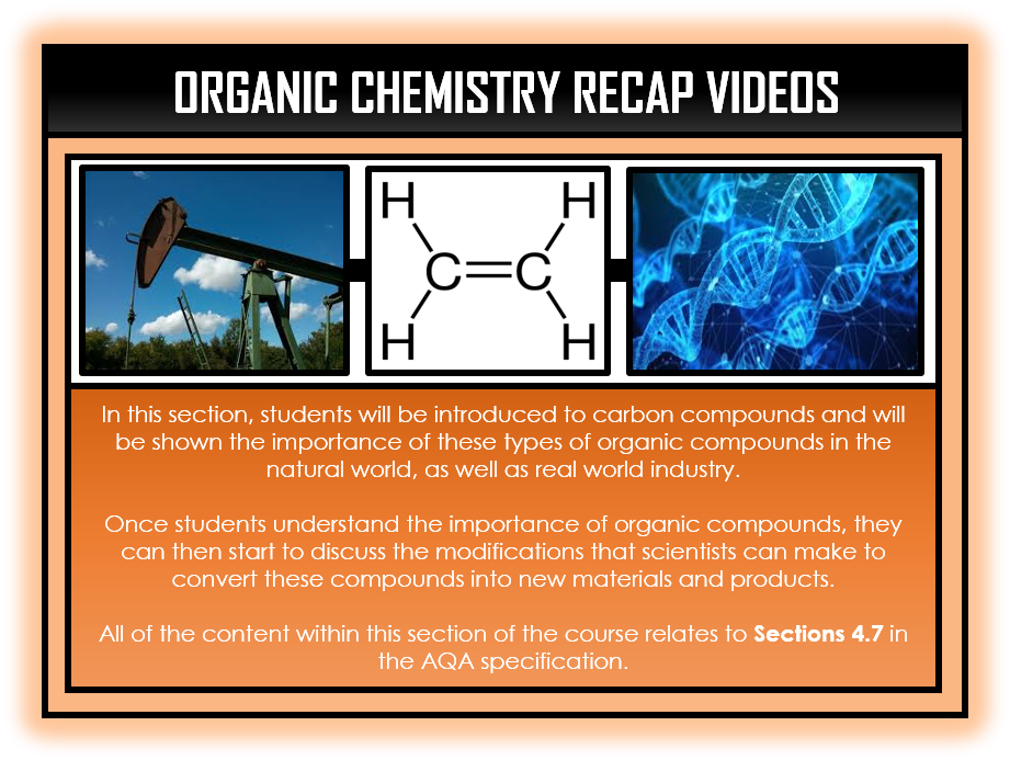 Combined Science Snapshots - Organic Chemistry Section