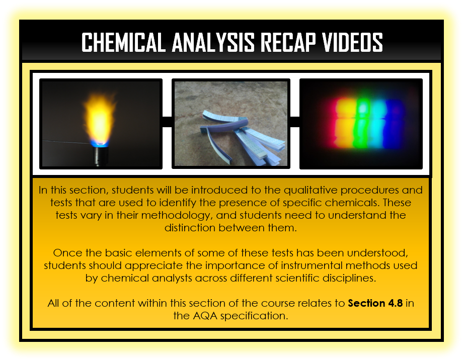 Combined Science Snapshots - Chemical Analysis Section