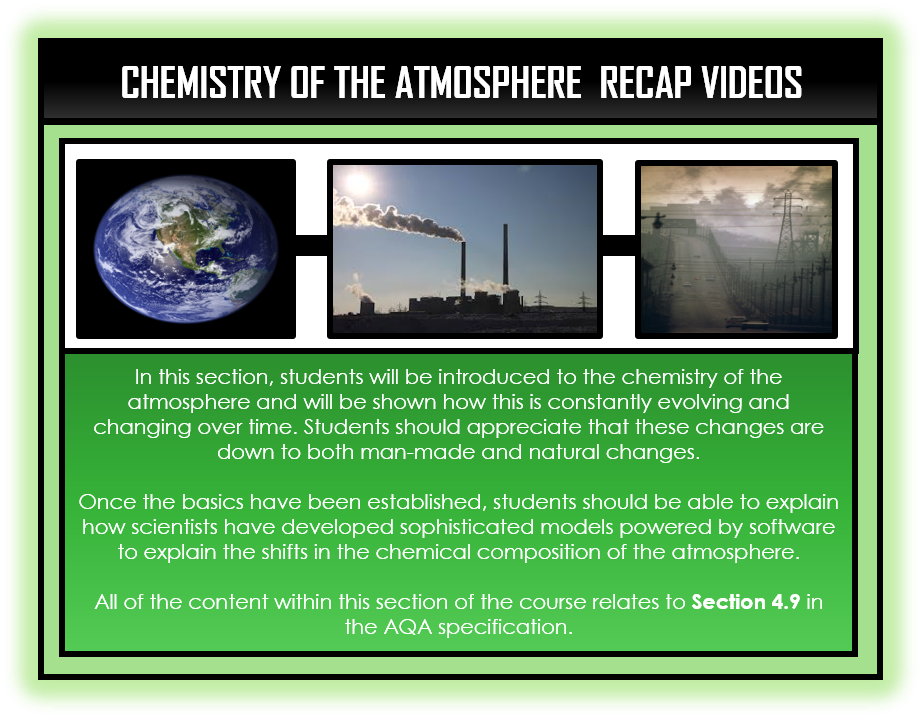 Chemistry Snapshots - Chemistry of the Atmosphere Section