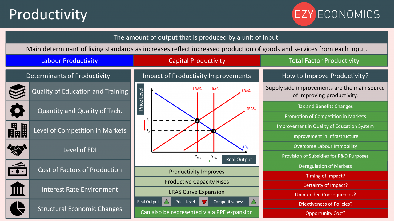 Economics Year 13 revision Day 18 - Productivity
