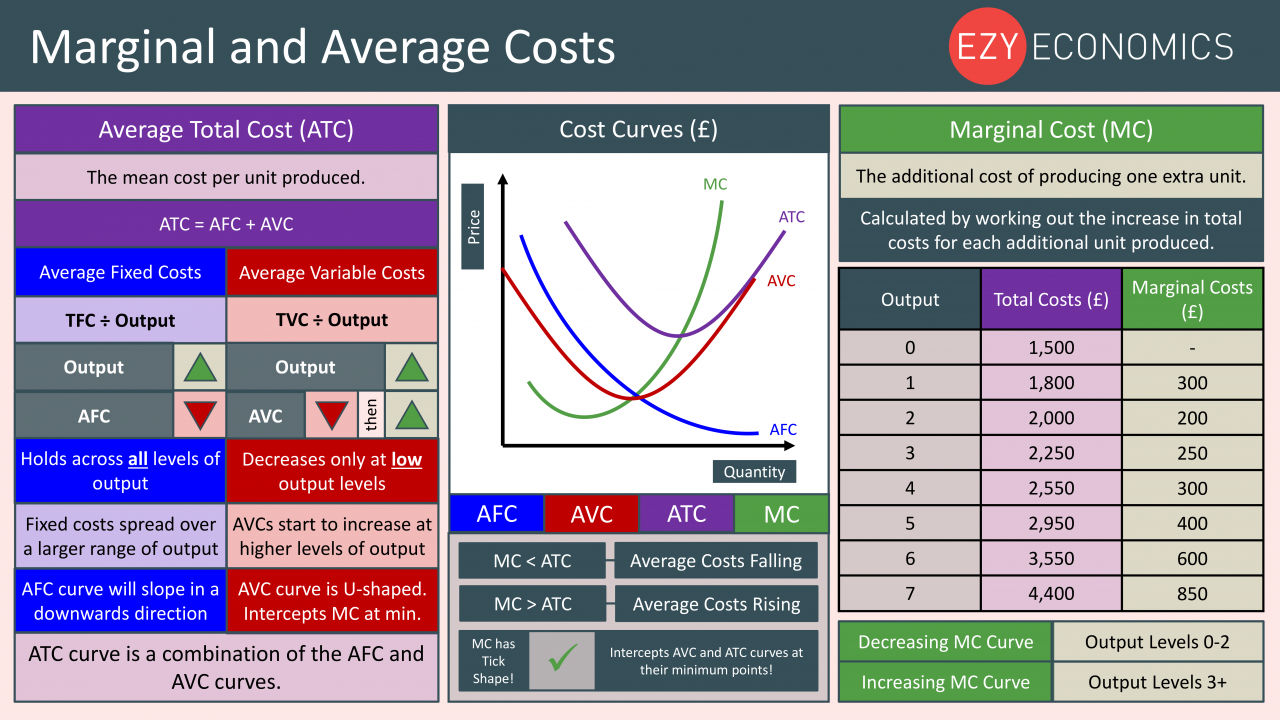 Economics Year 13 revision Day 2 - Marginal and Average Costs