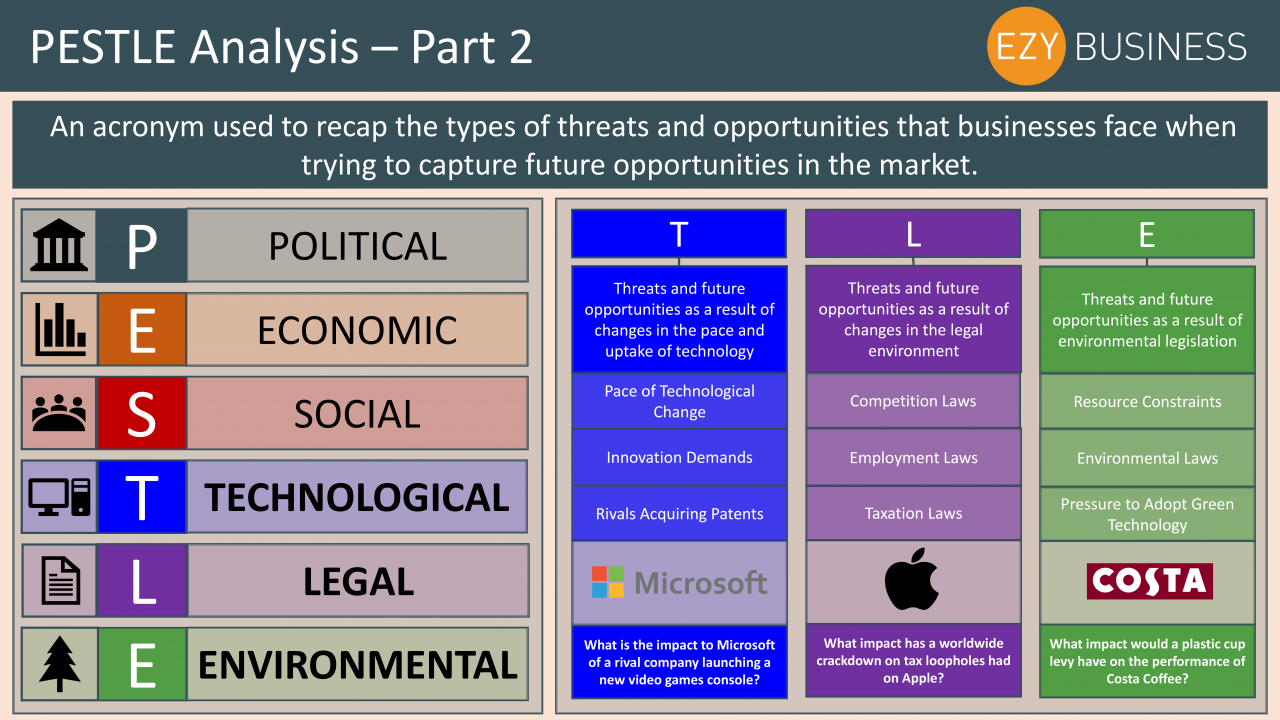 Business Studies Year 13 revision Day 5 - PESTLE Analysis part 2