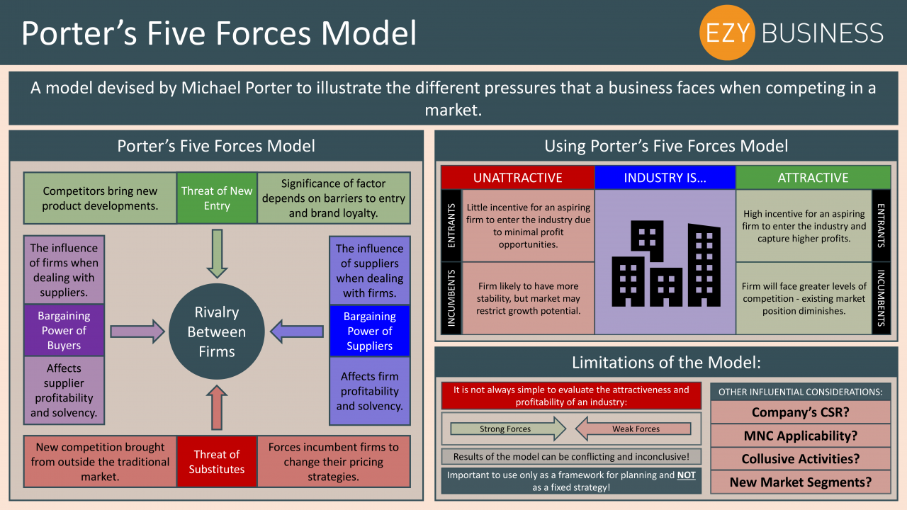 Business Studies Year 13 revision Day 6 - Porter's Five Forces Model