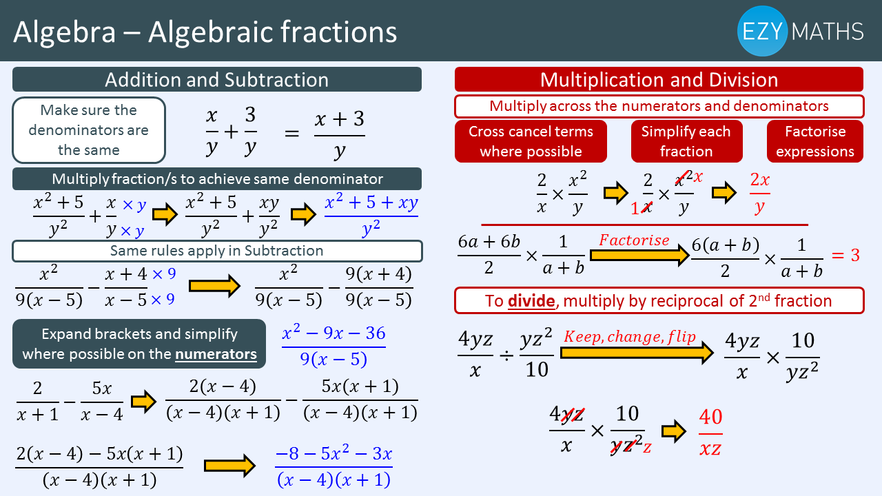 Countdown to Exams - Day 70 - Algebraic fractions